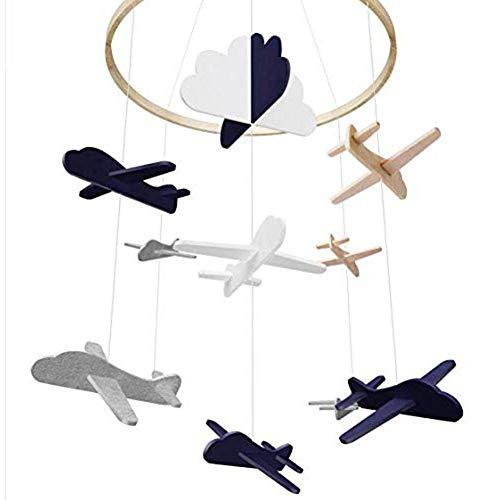 Iwinna Baby Crib Mobile Airplances Clouds Birds Baby Ceiling Hanging Nursery Decor