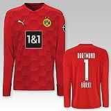 Puma - Camiseta de portero del Borussia Dortmund, temporada 2020/21, color rojo, 1 cepillo., 152