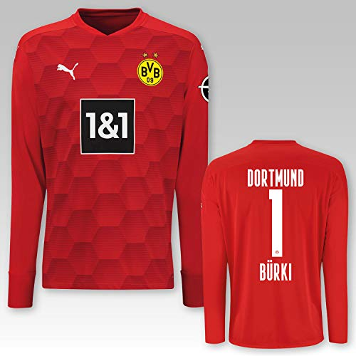 PUMA BVB Torwarttrikot rot Saison 2020/21, Größe:152, Spielername:1 Bürki