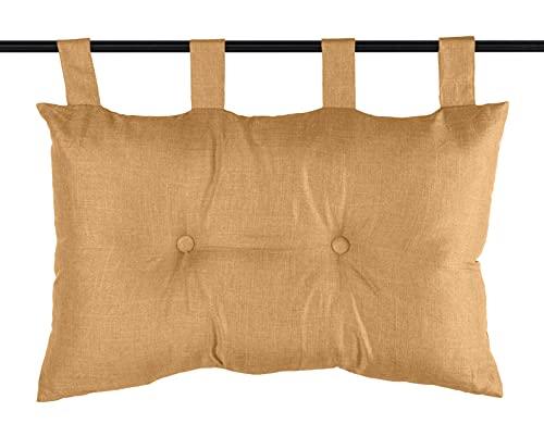 Lovely Casa Cabecero de Cama 45 x 70 cm – BEA – Camel, poliéster, marrón Claro