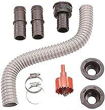 Stekkerverbindingsset voor waterafzettingen (doorgang 32 mm). Voor aansluiting tussen filter en tank of tussen tanks