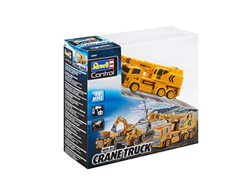 RC Auto kaufen Baufahrzeug Bild 4: Revell Control 23497 RC Baufahrzeug Kranwagen, 40MHz, Akku ferngesteuertes Auto, gelb-orange, 12,5 cm*