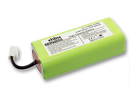 vhbw batería 800mAh (14.4V) para aspiradora Philips Easystar FC8800, FC8800/01, FC8802, FC8802/01, FC8802/02 por NR49AA800P, CRP756/01.