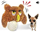 Interactive Plush Squeaky Dog Toys, Electronic Motion Ball Pet Toy, Crazy Bouncer