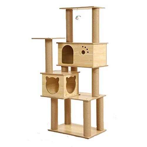 Axiba Spelen Torens Bomen voor Katten Kattenkruip Kattenstrooisel kat boom kat grijpen kolom houten kat springen platform voor het slapen spelletjes 40cm* 60cm * 150cm