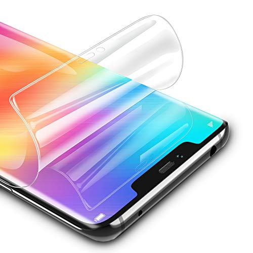 RIWNNI Protection Écran pour Huawei Mate 20 Pro [3 pièces], Ultra Slim Souple TPU Film Couverture Complète HD Clair Protege Ecran sans Bulles pour Huawei Mate 20 Pro - Transparent