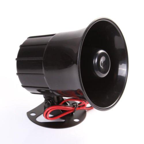 Wen & Cheng - Altoparlante per sirena da 12 V, per auto, furgone, camion, PA System15 W, allarme elettrico