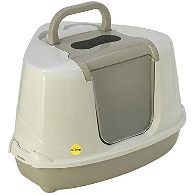 Grey Corner Cat Flip Litter Tray 6 Colours Box Hooded Pan Toilet Loo Filter Scoop