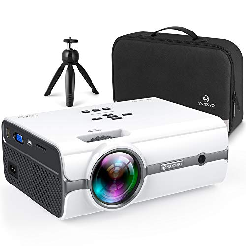 VANKYO Leisure 410 [2020 Upgrade] Mini Projector with 1080P Supported, Portable Projector compatiable with iOS/Android Connection, HDMI, PS4, VGA, USB for Home Entertainment & Outdoor Activities. Buy it now for 119.99