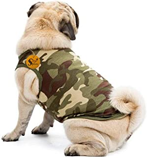 Sage Square Premium Dog Winter Ultra Warm Camouflage Army Coat Thicker Fleece Dog Hoodie Vest for Cold Weather (Size: Medi...