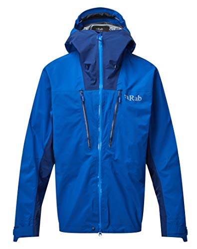 RAB Muztag GTX Jacket - Men's, Celestial/Blueprint, Large, QWQ-38-CE-L