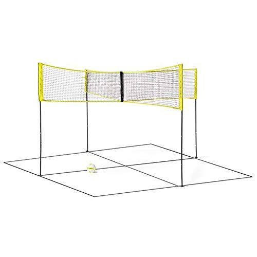 Cracklight Volleyballnetz Trainingsnetz Vierseitiges Badmintonnetz aus PE Standard Cross-Volleyball Trainingsnetz Sport Badmintonnetz-Spielnetz Tennisnetz-1.5mx0.5m