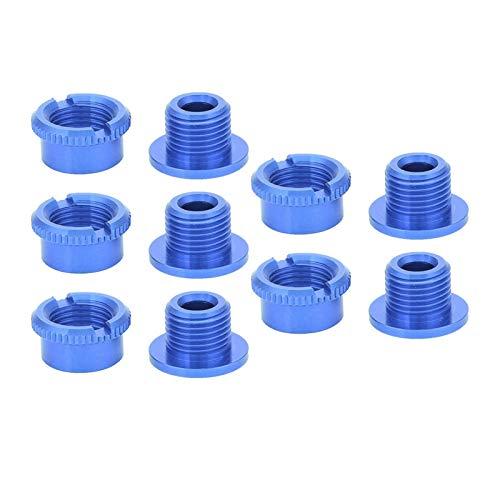 Hatirea Bulloni, Viti e Dado per Corona in Lega di Alluminio, per Biciclette per Piastra Dentale Singola(Blue Short Single Plate)
