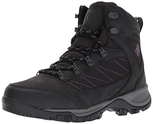 Columbia Cascade Pass Waterproof, Botas de Senderismo para Mujer, Negro (Black/Intense Purple),...
