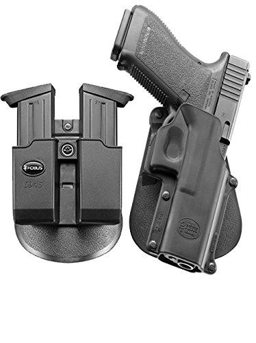 Fobus neu Pack GL-3 verdeckte Trage Pistolenhalfter Halfter Holster + Doppel-Magazintasche für Glock 20, 21, 21SF, 37, 41, ISSC M22