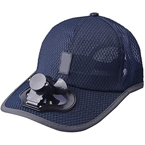 Akemaio Gorra de béisbol Unisex con Carga USB Ventilador de refrigeración Ajustable Mini Ventilador de Campamento de Verano Viajar Escalada al Aire Libre Divertido Creativo Caps Sombrero