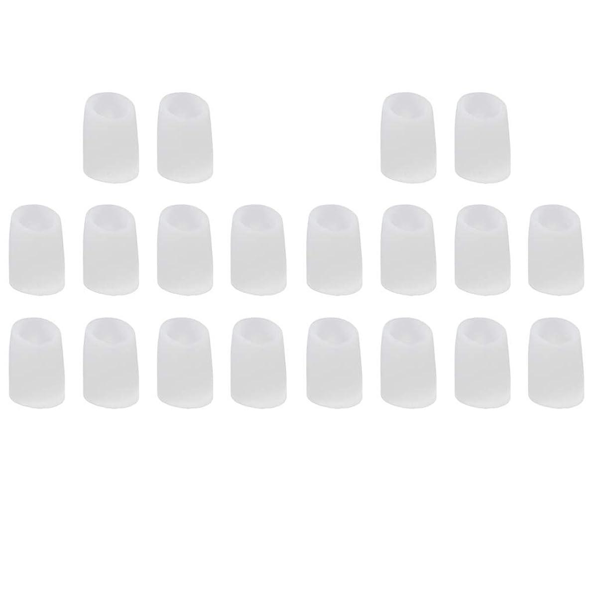 訴えるキャベツインシュレータ約20個セット 足指保護キャップ つま先プロテクター 便利 全2サイズ - L