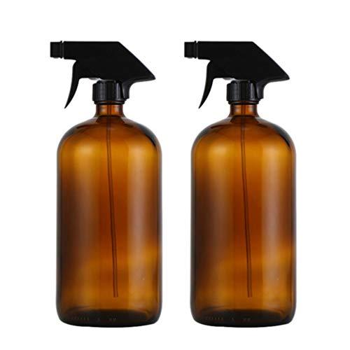 Pixnor 2 Pcs Brun Pulvérisateur Distributeur 500 Ml Fine Brume Eau Liquide Pulvérisateur Parfum Huile Essentielle Verre Vide Lotion Monsieur