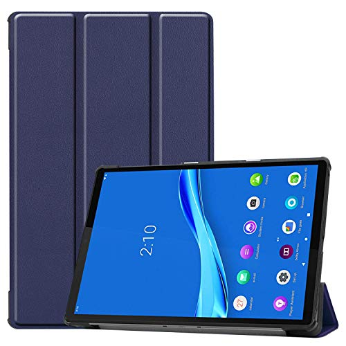 Robustrion Smart Trifold Hard Back Flip Stand Case Cover for Lenovo Tab M10 HD TB-X505F TB-X505L TB-X505X Byju's Tab (Will Not Fit 605LC/M10 FHD Rel) - Navy