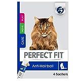 Perfect Fit Anti-Hairball – Cremiger Katzensnack für eine gesunde Verdauung – Mit Huhn – Unterstützt die Vitalität – 11 x 4 x 12g