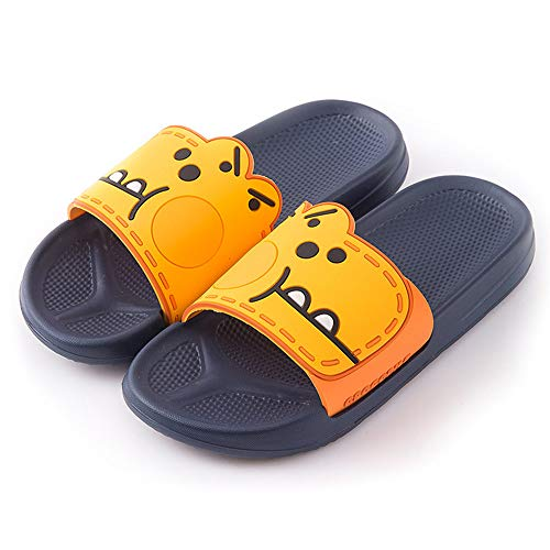 Sliders Mannen Vrouwen Slippers Non-Slip Douche Sandalen Summer House Soft EVA Sole Beach Pool Schoenen Badkamer Water Schoenen,Orange,39/40EU