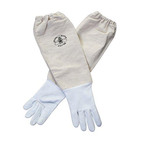 Buzz Work Wear Imker Weiß Weich Hide Leder Handschuhe