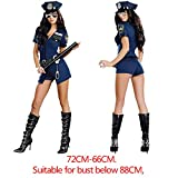 YARUDRESS Sexy Cop Polizeidame Frauen Kostüm, Polizeifrauen Dress Polizei Cosplay Uniform Hut Und,...