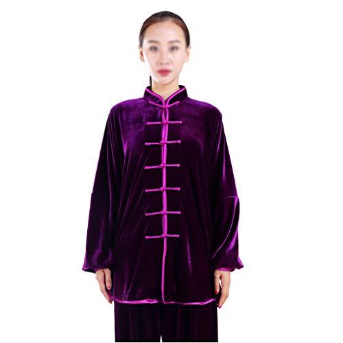 ZHOUXIAO Plus Fleece Taichi Uniform...