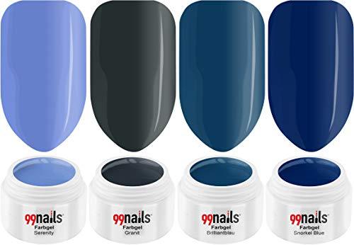 99 Nails Gels UV Set – Denim style 5 ml pack de 4 (4 x 5 ml)