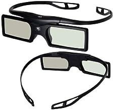 Signstek 2 Pack 2014 Newest Version Detachable 144Hz 3D Active Shutter Glasses for DLP-Link 3D Projector