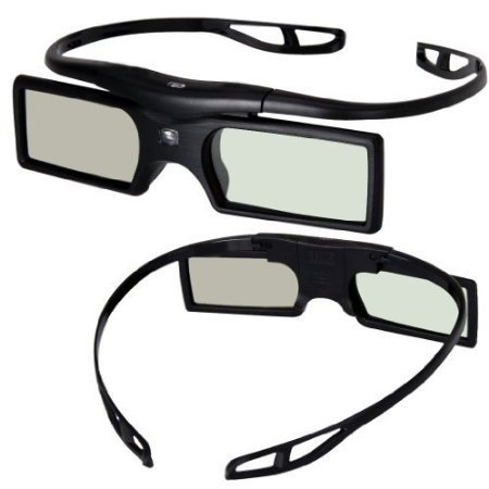 Signstek 2 Pack 2014 Newest Version Detachable 144Hz 3D Active Shutter Glasses for DLP-Link 3D Projector
