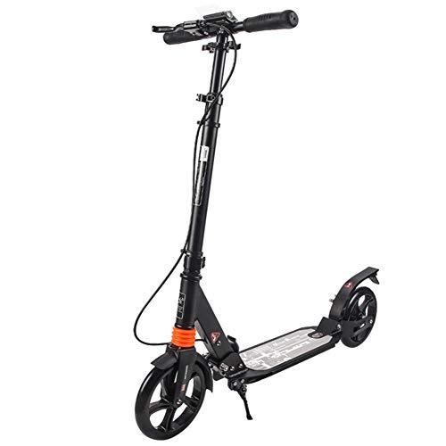 Scooter Eléctrico para Adultos, Plegable / Plegable E-Scooter Portátil y Diseño Liviano, Velocidad Máxima de hasta 25 Km / H, Neumático Antideslizante, Rueda Grande de 200 Mm