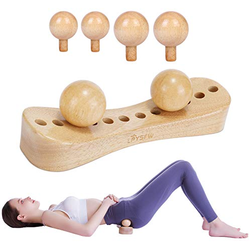 Upgrade Psoas Muscle Release Tool and Personal Body Massage for Release Back Bain, Trigger Point Physical Therapy with 6 Massage Heads Deep Tissue Massage Tool