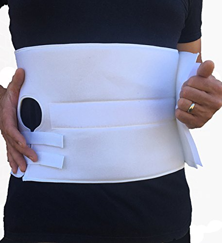 Alpha Medical Stoma Support Ostomy Hernia Belt for Colostomy Bag Abdominal Binder with Stoma Opening. L0625 (Medium Length ; 8