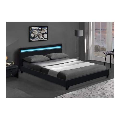 Milo Italia Madeline Collection Madeln Qn Bk 01 Queen Size Platform Led Bed With Multi Color Accent Led Lighting Low Profile Clean Line Design And Leatherette Upholstery In Black Buy Online In Grenada At Grenada Desertcart Com Productid