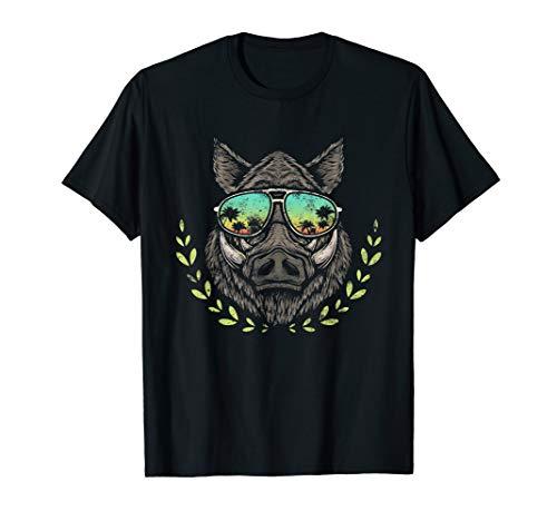 Wildschwein Wald Jagd Förster Forstwart Wildsau Jäger Eber T-Shirt