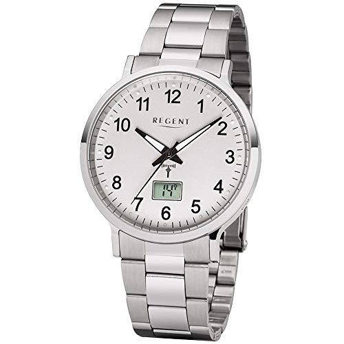 Regent Herren Funk-Armbanduhr mit Stahlband Ø 40 mm FR-248