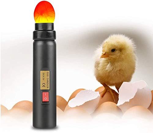 Light Egg Candler LED Light Tester for All Egg Type, Powered by Power Cord Only, Incubator Light Monitor Flashlight Candeling For Chicken Duck Bird Egg Breeding Fertility