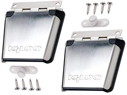 Igloo Cooler Stainless Steel Latch with 2-Screw Winged Post (2-pk)