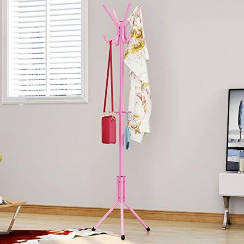 Lrxq Moderne minimalistische vloergarderobe voor kinderkamer creatieve woonkamer hanghouder van smeedijzer Roze