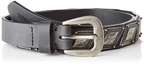 LEVIS FOOTWEAR AND ACCESSORIES Damen Sandy Concho Belt Gürtel, Schwarz (Regular Black 59), 80 (Herstellergröße: 95)