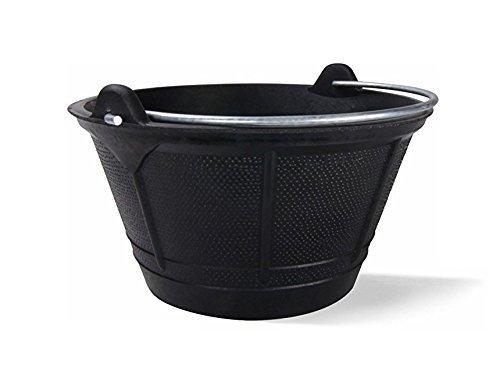 Fiel Kanguro 10010002 Cubo Obra Goma Italiano 10 litros, Negro, 10 l