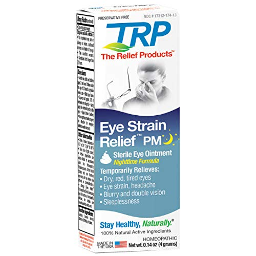 The Relief Products Nighttime Eye Strain Relief PM Sterile Eye Ointment, 0.14 Oz.