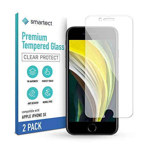 smartect Panzerglas kompatibel mit iPhone SE 2020 [2 Stück] - Displayschutz mit 9H Härte - Blasenfreie Schutzfolie - Anti Fingerprint Panzerglasfolie