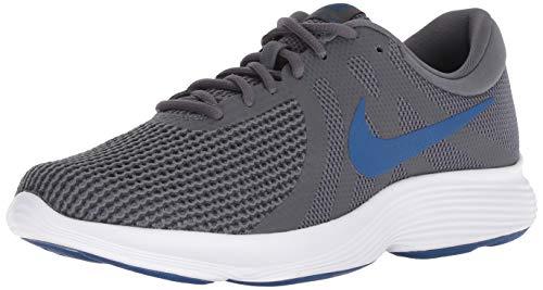 Nike Revolution 4, Zapatillas de Running para Hombre, Gris (Dark Grey/Gym Blue/Anthracite/White 009), 41 EU