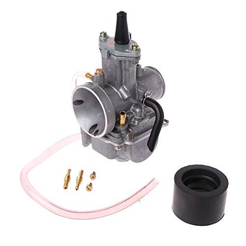 Sidougeri Carburador universal para motocicleta de 24 mm para Carb PWK Mikuni con Power Jet