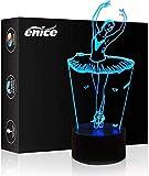 3D-Diashow Led-Nachtlicht Siebenfarbigen Farbverlauf Touch-Schalter Usb-Schreibtischlampe Für Weihnachtsgeschenke Oder Home-Office-Dekorationen (Ballerina Mädchen) Remote Control