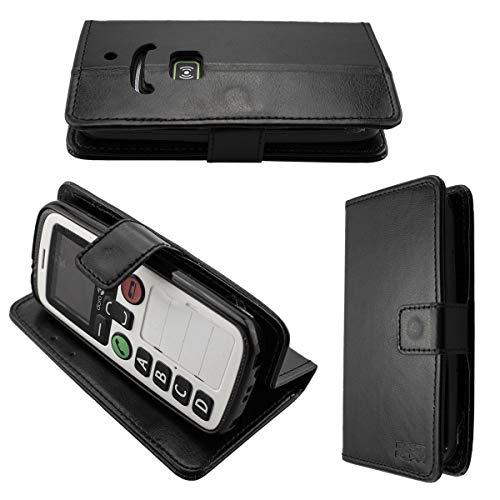 caseroxx Handy Hülle Tasche kompatibel mit Doro Secure 580 / 580IUP Bookstyle-Hülle Wallet Hülle in schwarz