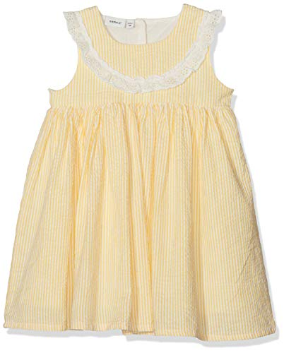 Name It Nbfdalone Spencer WL Robe, Jaune (Pale Marigold Pale Marigold), 68 Bébé Fille