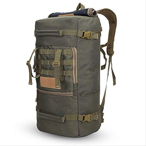 JLCS Bolsa De Alpinismo 50L Men Bag Mountaineering Unisex Camping Bags Sports Hiking Travel Mochila MultifuncionalArmy-Green